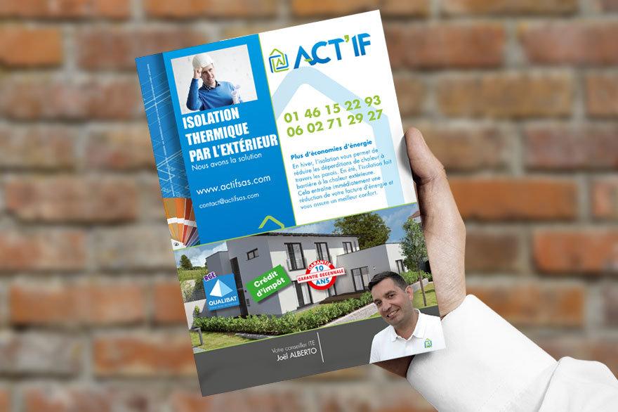 Flyer ACT'IF isolation thermique par l'extérieur